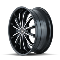 Mazzi 341 Fusion Gloss Black/Machined Face 24X9.5 6-135/6-139.7 30mm 106mm