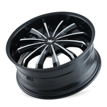 Mazzi 341 Fusion Gloss Black/Machined Face 24X9.5 5-115/5-120 18mm 74.1mm