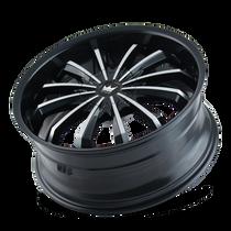 Mazzi 341 Fusion Gloss Black/Machined Face 22X9.5 5-115/5-120 18mm 74.1mm