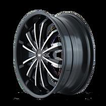 Mazzi 341 Fusion Gloss Black/Machined Face 22X9.5 5-114.3/5-120 35mm 74.1mm