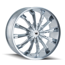 Mazzi 341 Fusion Chrome 22X9.5 5-114.3/5-120 35mm 74.1mm