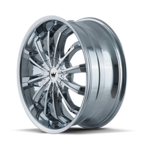 Mazzi 341 Fusion Chrome 20X8.5 5-108/5-114.3 35mm 72.62mm