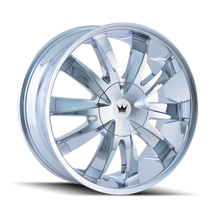 Mazzi 337 Edge Chrome 22X8.5 5-115/5-120 18mm 74.1mm