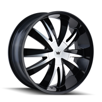 Mazzi 337 Edge Gloss Black/Machined Face 22X8.5 5-112/5-120 35mm 72.56mm