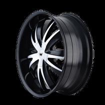 Mazzi 337 Edge Gloss Black/Machined Face 22X8.5 5-112/5-120 35mm 72.56mm