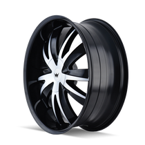 Mazzi 337 Edge Gloss Black/Machined Face 22X8.5 5-115/5-120 18mm 74.1mm