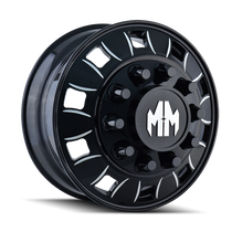 Mayhem BigRig 8180 Front Black/Milled Spokes 24.5X8.25 10-285.75 168mm 220.1mm