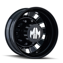 Mayhem BigRig 8180 Rear Black/Milled Spokes 24.5X8.25 10-285.75 168mm 220.1mm