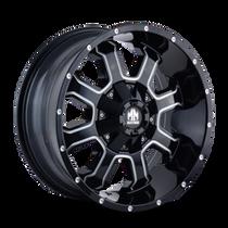 Mayhem Fierce 8103 Gloss Black/Milled Spokes 17X9 8-165.1/8-170 -12mm 130.8mm