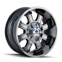 Mayhem Fierce 8103 PVD2 Chrome 22X12 8-180 -44mm 124.1mm