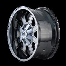 Mayhem Fierce 8103 PVD2 Chrome 20X10 6-135/6-139.7 -19mm 108mm - wheel side view
