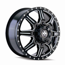 Mayhem 8101 Monstir Front Black Milled Spokes 22X8.25 8-165.1 127mm 116.7mm