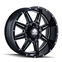 Mayhem 8100 Monstir Gloss Black/Milled Spokes 20X10 6-135/6-139.7 -12mm 108mm