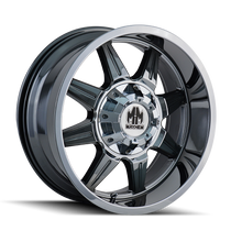 Mayhem 8100 PVD2 Chrome 20X9 8-165.1/8-170 18mm 130.8mm