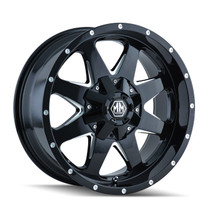 Mayhem Tank 8040 Black/Milled Spokes 17X9 8-180 25mm 124.1mm