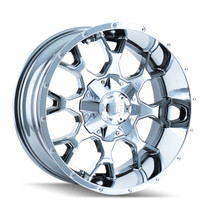 Mayhem 8015 Warrior PVD2 Chrome 17X9 5-127/5-139.7 18mm 87mm
