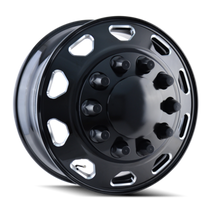 IONBILT IB02 Front Black/Milled Spokes 24.5X8.25 10-285.75 168mm 220.1mm