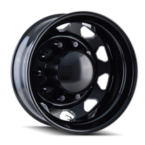 IONBILT IB02 Rear Black/Milled Spokes 22.5X8.25 10-285.75 169mm 220.1mm