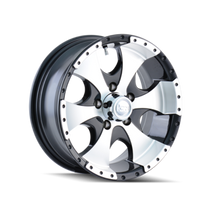 Ion Trailer Wheels 136 Black/Machined Face/Machined Lip 14X6 5-114.3 0mm 83.82mm