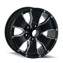 Ion Trailer Wheels 14 Black/Machined Face 15X6 6x139.7 0mm 108mm
