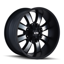 ION 189 Satin Black/Machined Face 20X9 8-165.1/8-170 18mm 130.8mm