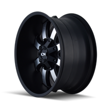 ION 189 Satin Black/Machined Face 18X9 8-165.1/8-170 -12mm 130.8mm