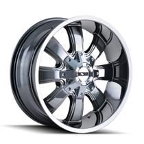 ION 189 PVD2 Chrome 17X9 8-165.1/8-170 -12mm 130.8mm