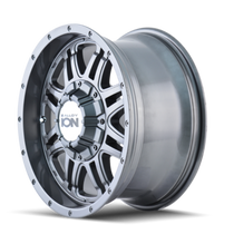 ION 186 Gunmetal 17X8 8-165.1/8-170 10mm 130.8mm