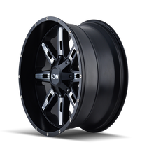 Ion 184 Satin Black/Milled Spokes 17X9 5-127/5-139.7 -12mm 87mm