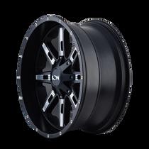 Ion 184 Satin Black/Milled Spokes 22X10 5-127/5-139.7 -19mm 87mm