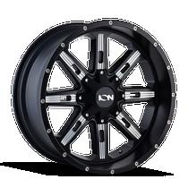 Ion 184 Satin Black/Milled Spokes 20X10 5-139.7/5-150 -19mm 110mm