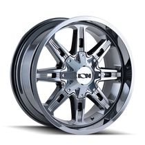Ion 184 PVD2 Chrome 17X9 8-165.1/8-170 -12mm 130.8mm