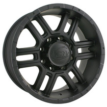 Ion 179 Matte Black 16X8 8-170 10mm 130.8mm
