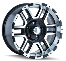 Ion 179 Black/Machined Face/Machined Lip 17X9 8-170 0mm 130.8mm