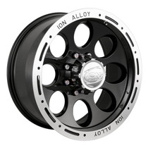 Ion 174 Black/Machined Lip 17X9 5-127 0mm 83.82mm