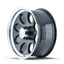 Ion 171 Black/Machined Lip 17X9 8-165.1 0mm 130.8mm