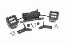Jeep 2-Inch LED Lower Windshield Kit (18-19 Wrangler JL) Black Series