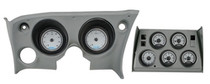 1968-77 Chevy Corvette VHX Instruments w/ Analog Clocks silver and white (displayed in bezel which in NOT included)