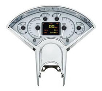 1955- 56 Chevy Car HDX Instruments with Silver Alloy background (BEZEL NOT INCLUDED)