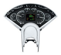 1955- 56 Chevy Car HDX Instruments with Black Alloy Background (BEZEL NOT INCLUDED)
