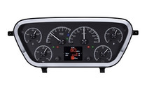 1953- 55 Ford Pickup HDX Instruments with Black Alloy background (BEZEL NOT INCLUDED)