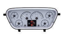 1953- 55 Ford Pickup HDX Instruments with Silver Alloy background (BEZEL NOT INCLUDED)
