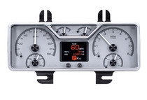 1940 Ford Car and 1940- 47 Ford Truck HDX Instruments with Silver Alloy background