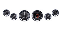 Universal 6 Gauge Round, Analog HDX Instruments with Black Alloy background