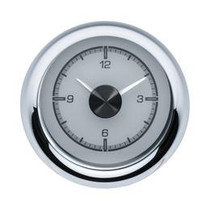 1955-56 Chevy Car Clock for HDX Instruments with Silver Alloy background