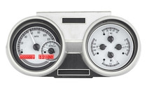 1966- 67 Oldsmobile Cutlass VHX Instruments Silver and Red (Bezel Not Included)