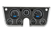 67-72 Chevy Pickup VHX Instruments w/ Analog Clock Black and Blue (Bezel Not Included)