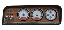 1973-85 Jeep Wagoneer & J Trucks VHX Instrument System Silver and Red (BEZEL NOT INCLUDED)