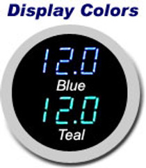 1949-50 Ford Digital Clock with Chrome Housing Display Color Options