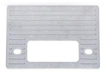 1937-38 Chevy Brushed Aluminum Radio Panel / Shafted